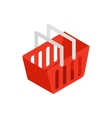 Red shopping basket icon isometric 3d style vector image vector image