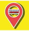 red signal red bus isolated icon design vector image