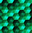 Relief Emerald Hexagons vector image