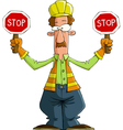road worker vector image vector image