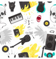 rock music stuff and musical instruments seamless vector image vector image