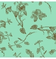 Seamless floral pattern with peppermint sprigs vector image vector image