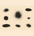 set of monochrome abstract splash stains textures vector image vector image
