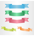 Several colorful ribbons vector image vector image