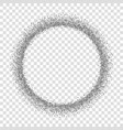 Silver circle isolated white transparent