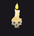 Skull with a candle vector image vector image
