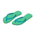 slippers isolated summer shoes beach boots sign vector image