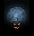 spooky pumpkin halloween background with moon