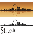St Louis skyline vector image vector image