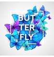 The modern poster with beautiful butterflies vector image vector image