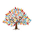 tree with people for family or community concept vector image vector image