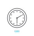 wall clock with hour and minute hand outline icon vector image vector image