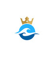 wave king logo icon design vector image vector image