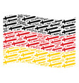 waving germany flag mosaic of sword items vector image vector image