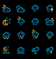 weather forecast icons - night vector image vector image