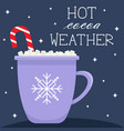winter greeting card in flat cartoon style vector image