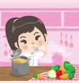 young chef tasty vector image vector image