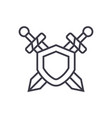 swords protection line icon sign vector image