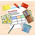 invoice invoicing payment design Calculator vector image