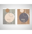 Dirty circles with text on brochure for your ideas vector image