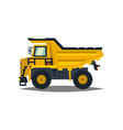 dumper big car yellow truck isolated on white vector image
