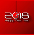 2018 origami happy new year ball vector image