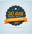 30 day money back badge vector image vector image