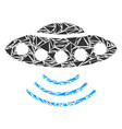 alien invasion mosaic of triangles vector image vector image