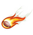 american football rocket ball burning vector image vector image