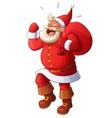 Angry Santa yelling and waving his fist Cartoon vector image vector image