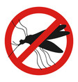 anti mosquito sign with a funny cartoon mosquito vector image vector image