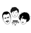 avatar retro family cartoon faces retro style vector image vector image