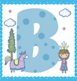 b alphabet letter for kids vector image