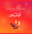 beautiful diwali wishes background design vector image vector image