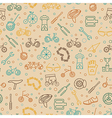 Bicycle seamless pattern Tnin line design vector image
