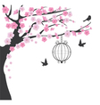 bird cage cherry vector image vector image