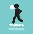 Black Symbol Chewing Gum vector image vector image