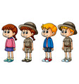 boys and girls in different costumes vector image