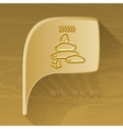 bubble golden icon with spa accessory vector image vector image