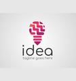 bulp logo idea concept logo template vector image