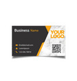 business card black and marble background i vector image