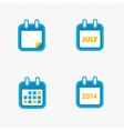 Calendar Icons on white vector image vector image