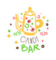 candy bar logo colorful hand drawn label vector image vector image