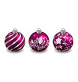 christmas balls isolated set decorative toys vector image vector image