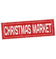 christmas market grunge rubber stamp vector image vector image