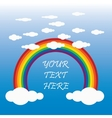 clouds with a rainbow for design and place vector image