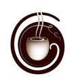 coffee lettering sign vector image vector image
