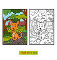 coloring book for children kangaroo vector image vector image