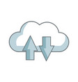 download and upload to cloud icon symbol vector image