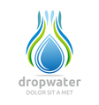 drop water pure shapes symbol design icon vector image vector image